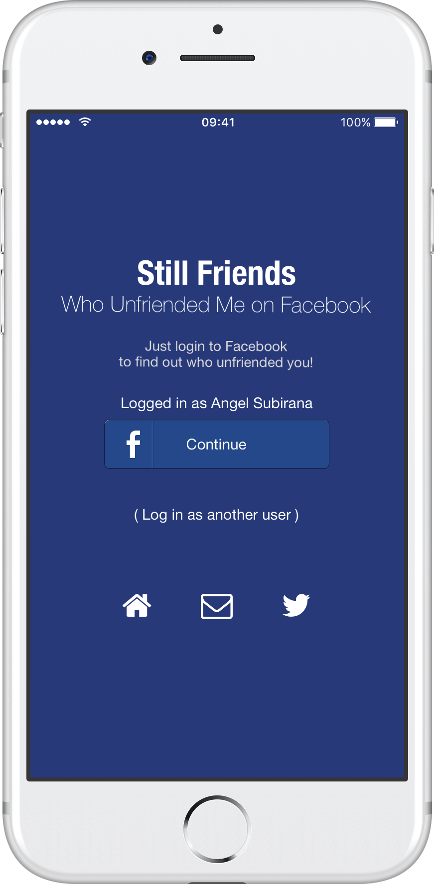 Login to Facebook to find who deleted you